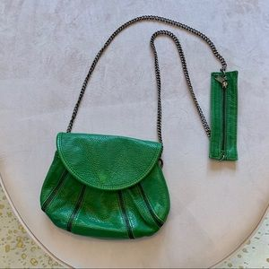 Handbags - Green faux leather side bag